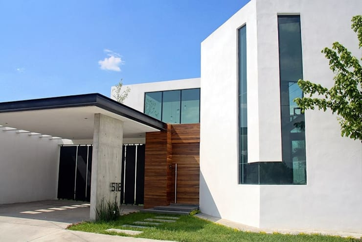 Fachada principal : Casas de estilo  por Narda Davila arquitectura