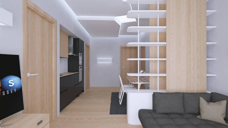 moderne Woonkamer door Bledi Skora Design