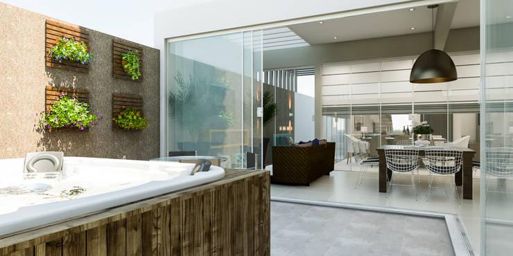 Casas de estilo  por Daniele Galante Arquitetura