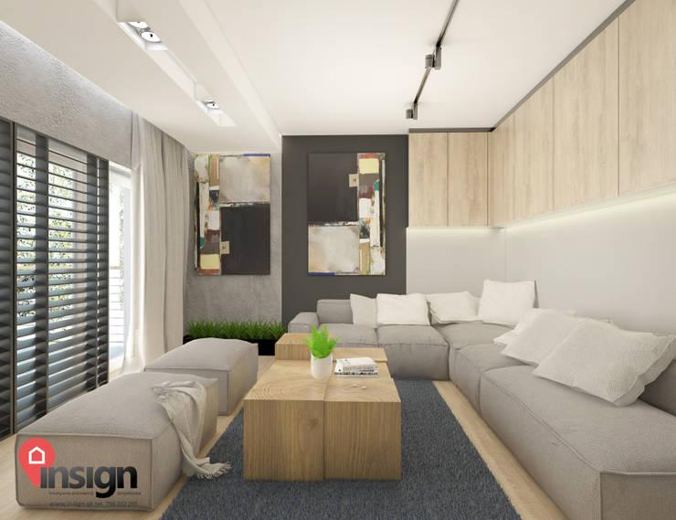 Knu_01 - salon: styl , w kategorii  zaprojektowany przez InSign Pracownia Projektowa Karolina Wójcik,