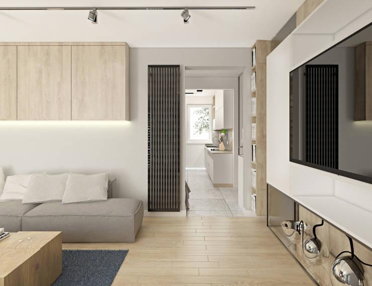 Knu_01 - salon: styl , w kategorii  zaprojektowany przez InSign Pracownia Projektowa Karolina Wójcik