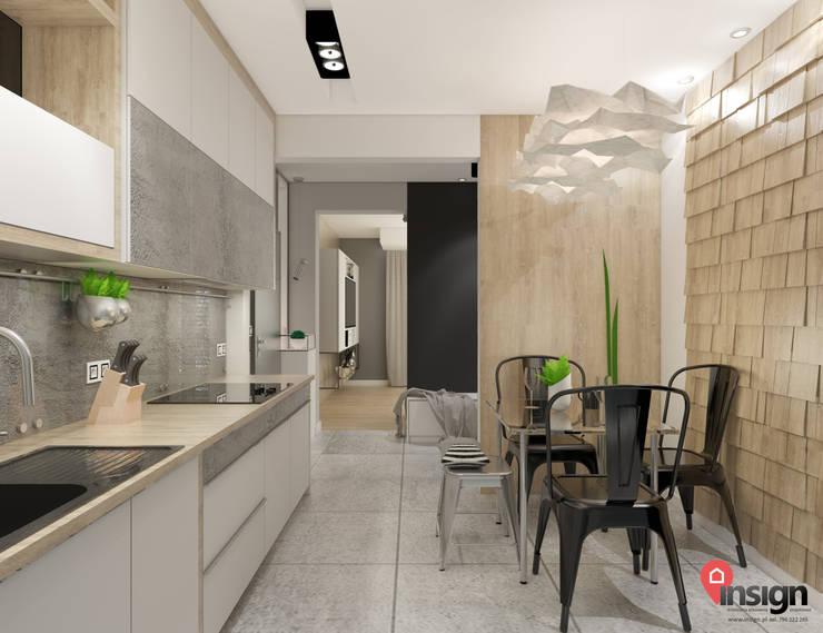 Knu_01 - kuchnia: styl , w kategorii  zaprojektowany przez InSign Pracownia Projektowa Karolina Wójcik