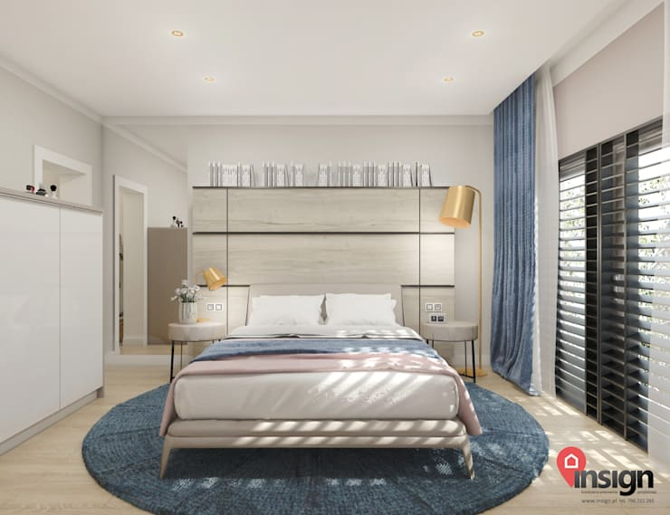 Knu_01 - sypialnia: styl , w kategorii  zaprojektowany przez InSign Pracownia Projektowa Karolina Wójcik