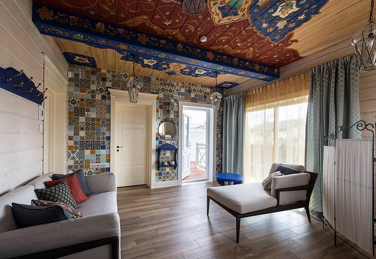 Комната отдыха. Роспись. Декоративная стена: Стены и пол в . Автор – Эдуард Григорьев (daproekt)