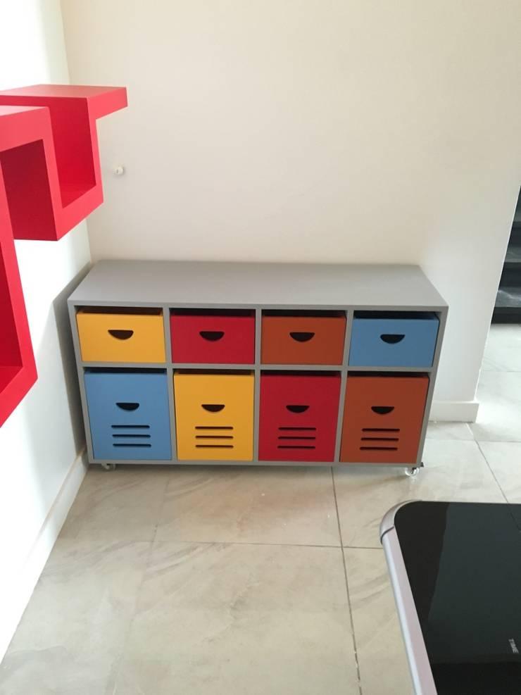 CAJONERA: Habitaciones infantiles de estilo  por ENSAMBLE STUDIO