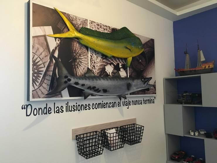 CUADRO CANASTAS: Habitaciones infantiles de estilo  por ENSAMBLE STUDIO