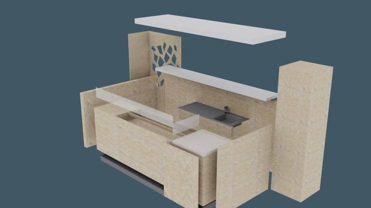 STAND YOGURTERIA- LA BARRACA MALL:  de estilo  por Estudio Dossier Interior