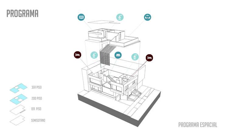 Vivienda unifamiliar-privada:  de estilo  por Le.tengo Arquitectos, Moderno