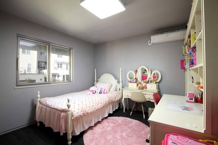 수하우징 프로젝트 B: 수하우징의  침실,모던