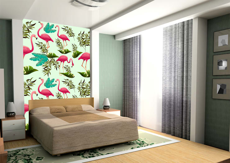 Animal Wallpapers Dormitorios de estilo moderno de Wallsauce.com Moderno
