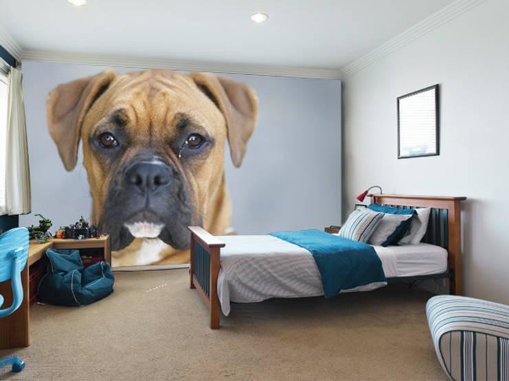 Boxer Dog Wallpaper Moderne Kinderzimmer von Wallsauce.com Modern