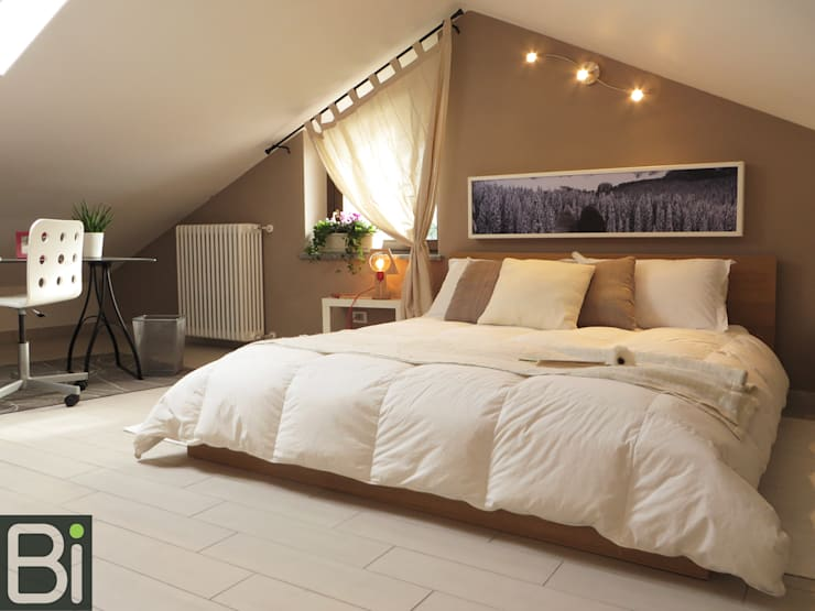 Casa Baie - Cambaire casa con l'uso del colore: Camera da letto in stile  di PROGETTO Bi
