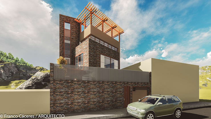 CASA JONES - PROYECTO: Casas de estilo moderno por FRANCO CACERES / Arquitectos & Asociados