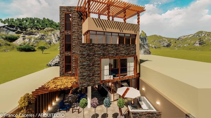 CASA JONES - PROYECTO: Casas de estilo  por FRANCO CACERES / Arquitectos & Asociados