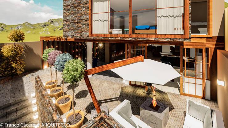 CASA JONES – PROYECTO: Casas de estilo  por FRANCO CACERES / Arquitectos & Asociados