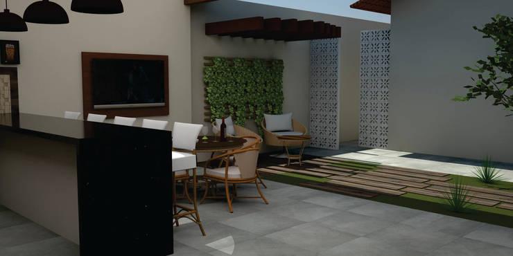 Casas de estilo  por SM Arquitetura e Engenharia