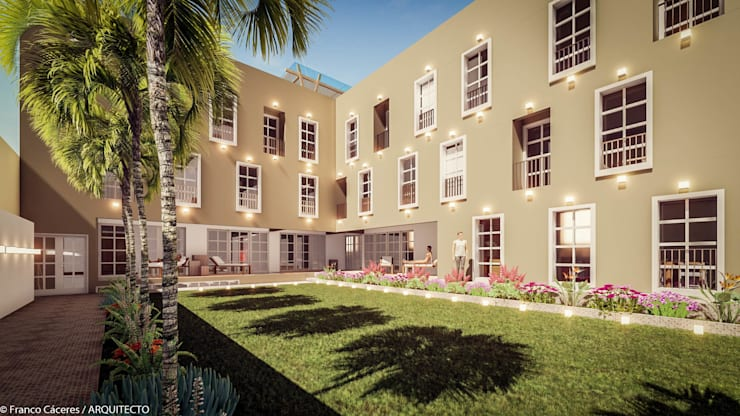 HOTEL BOUTIQUE BARRANCO – LIMA: Casas de estilo  por FRANCO CACERES / Arquitectos & Asociados, Colonial