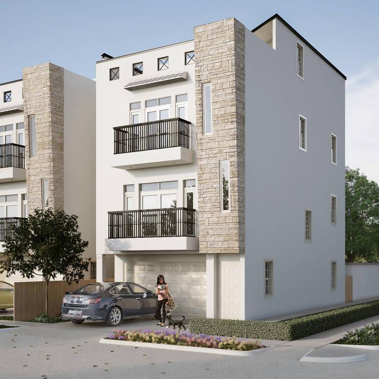 Villas at Robertson: Casas de estilo  por Banda & Soldevilla Arquitectos