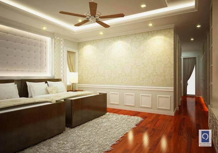 ผลงานการออกแบบ ห้องนอน โครงการ The Palazzo Sathorn:  ตกแต่งภายใน by ริชวัน กรุ๊ป