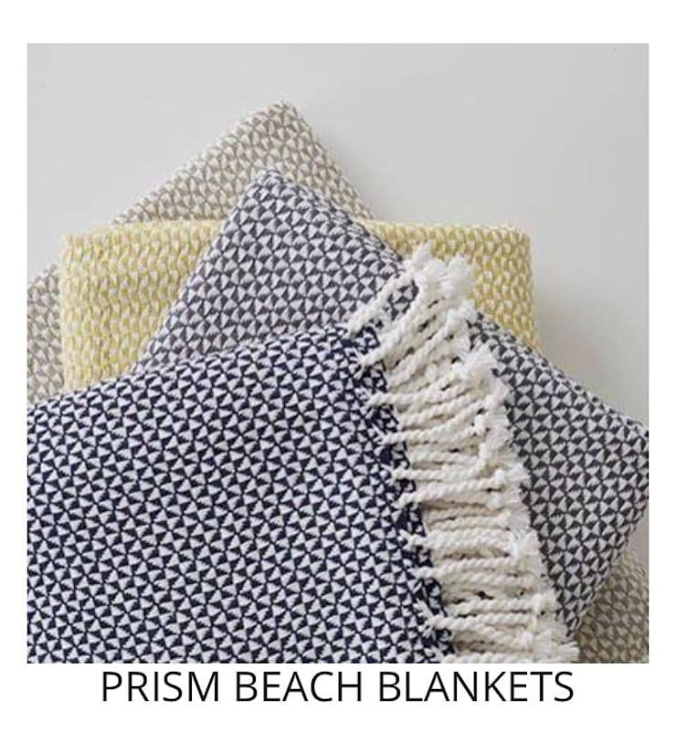 PRISM BEACH BLANKETS: modern  by Blake Matthew Design, Modern Cotton Red
