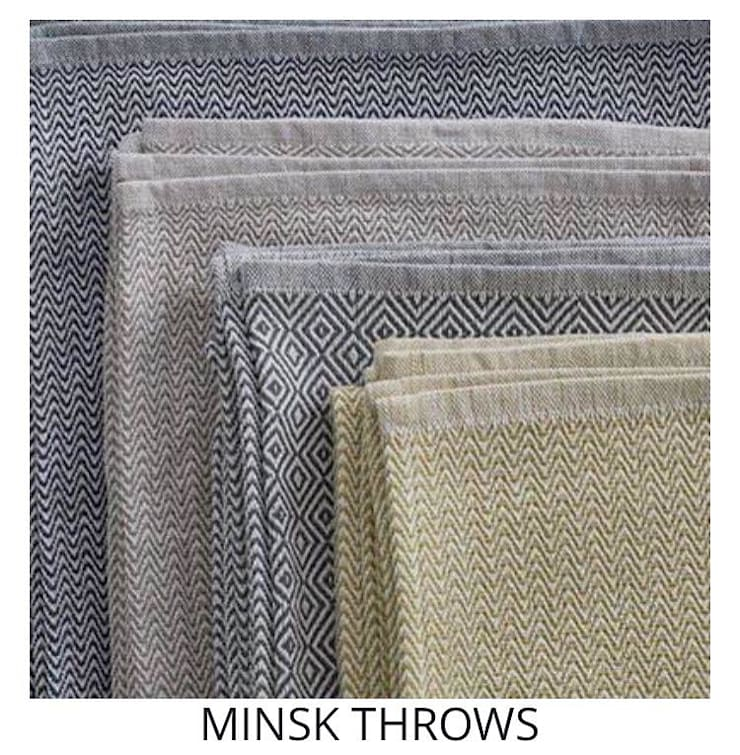 MINSK THROWS: modern  by Blake Matthew Design, Modern Cotton Red