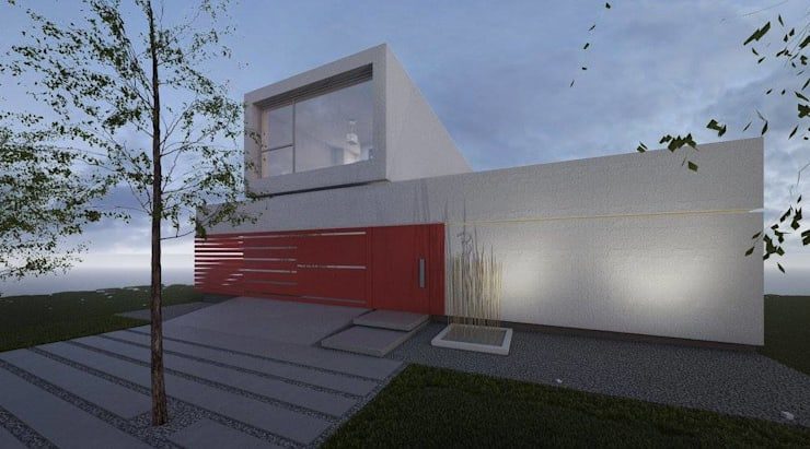 casa A: Casas de estilo  por ARQUITECTO MAURICIO PIZOLATTO
