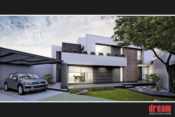 VISTA FRONTAL: Casas de estilo  por Estudio Meraki
