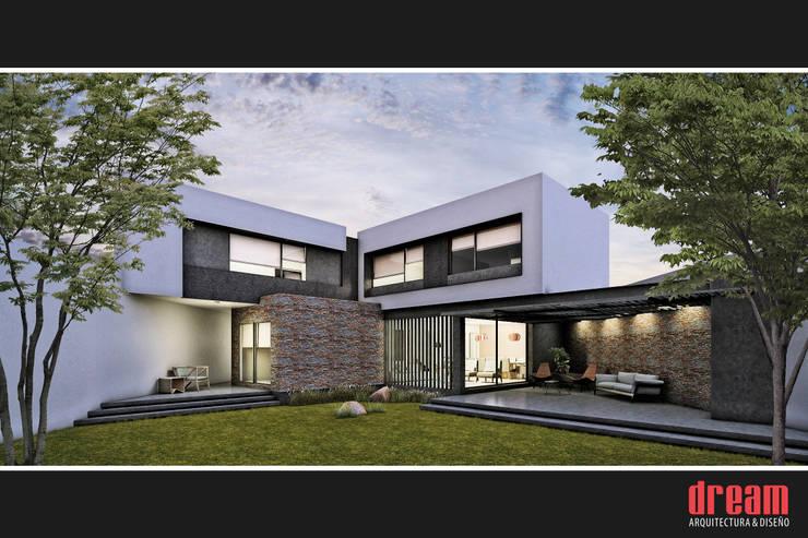 VISTA POSTERIOR: Casas de estilo moderno por Estudio Meraki