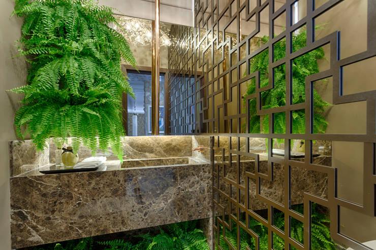 Lavabo Morar Mais 2016: Banheiros  por Jacqueline Ortega Design de Ambientes
