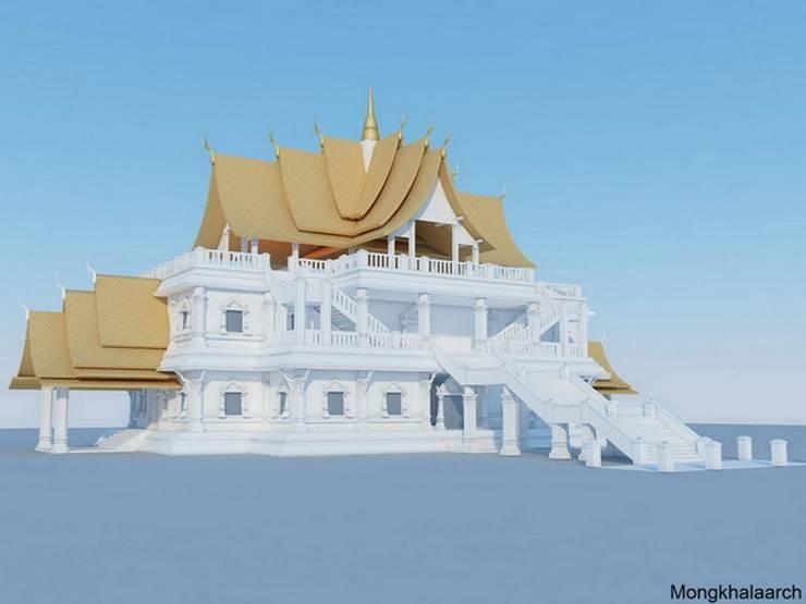 วัดบางรักใหญ่:   by Mongkhala Architect Co.,Ltd.