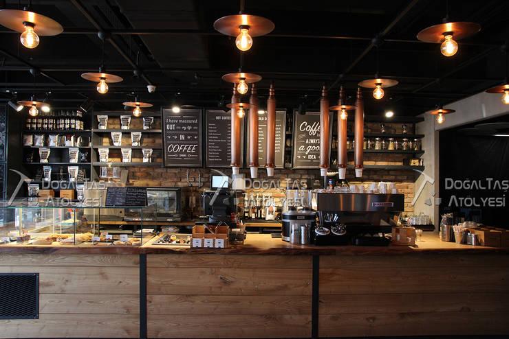 Doğaltaş Atölyesi – Espresso Lab - Kahve Mağazaları:  tarz Duvarlar, Asyatik Tuğla