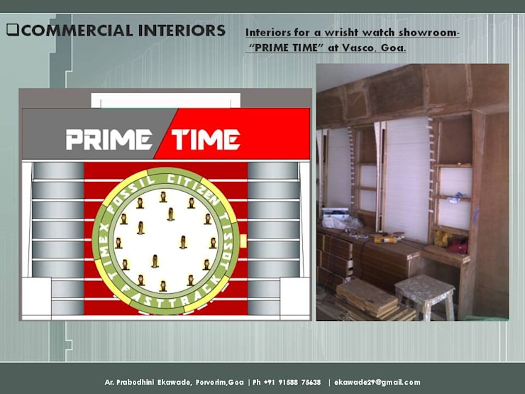 PRIME TIME, WATCH SHOP at Vasco, Goa:  Office spaces & stores  by SILVERFERNS DESIGN INNOVATION