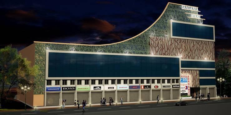 Facade Design for Braganza House, Mapusa, Goa.:  Houses by SILVERFERNS DESIGN INNOVATION