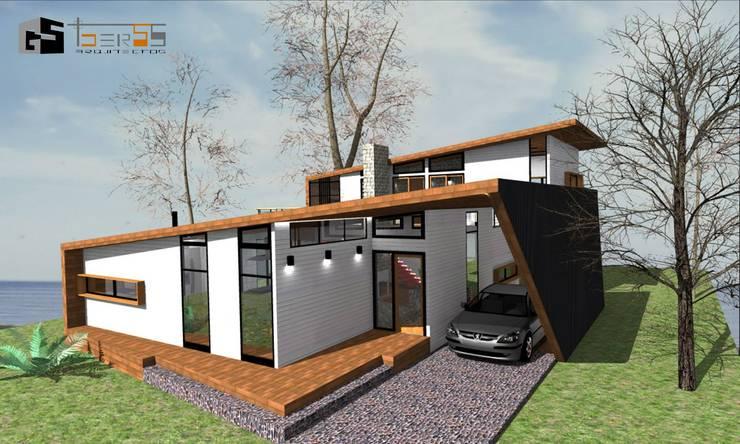 CASA CINTA : Casas de estilo moderno por GerSS Arquitectos