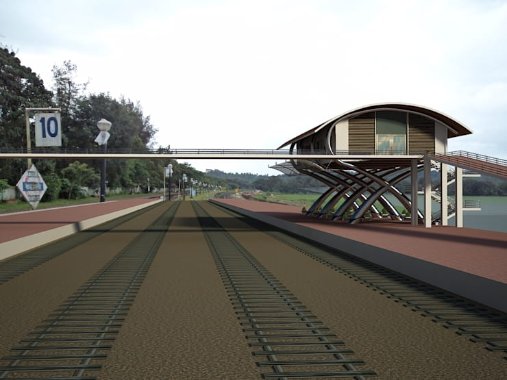 Commuters Court for Karmali Railway Station, Karmali, Goa.:  Houses by SILVERFERNS DESIGN INNOVATION