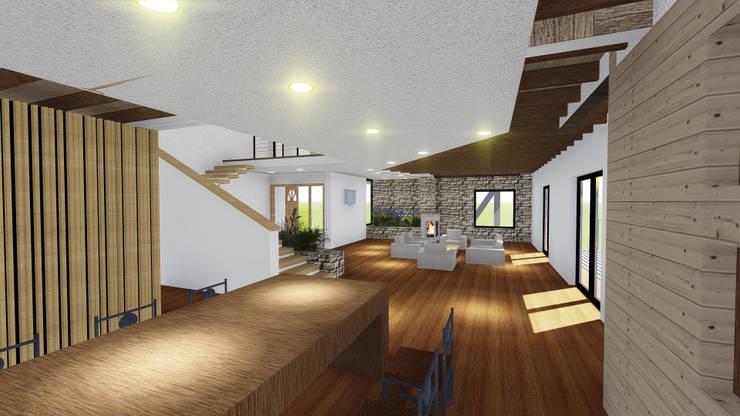 VIVIENDA UNIFAMILIAR DE NIEBLA – VALDIVIA: Comedores de estilo moderno por GerSS Arquitectos