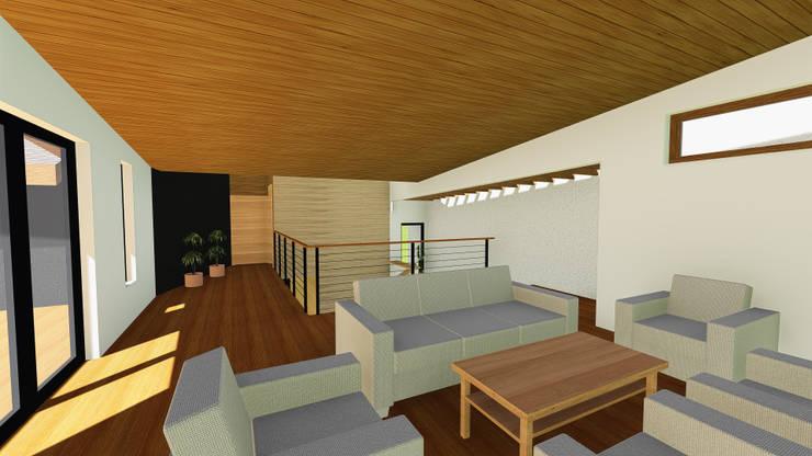 VIVIENDA UNIFAMILIAR DE NIEBLA – VALDIVIA: Estudios y biblioteca de estilo  por GerSS Arquitectos