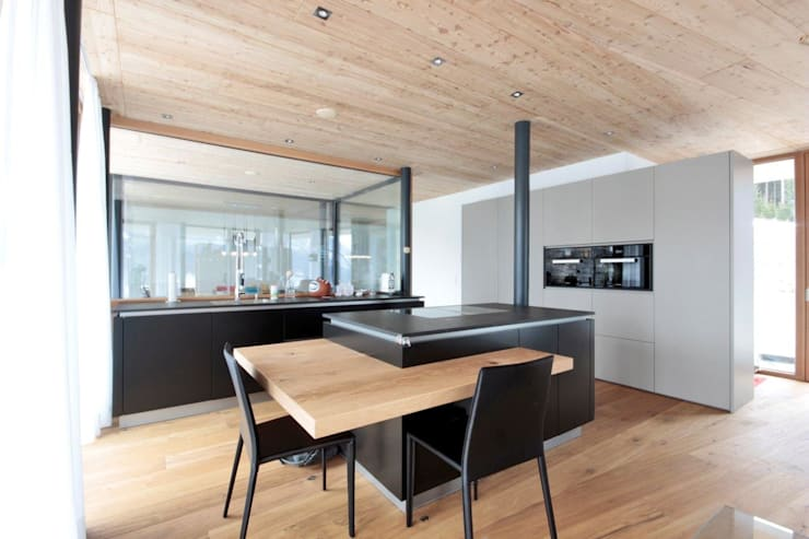 Projekty,  Kuchnia zaprojektowane przez BESTO ZT GMBH_ Architekt DI Bernhard Stoehr