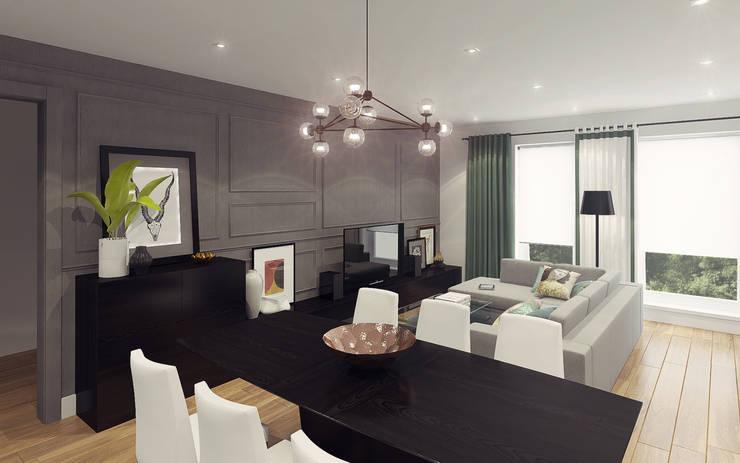 Apartment in Otrada estate: modern Living room by Ksenia Konovalova Design