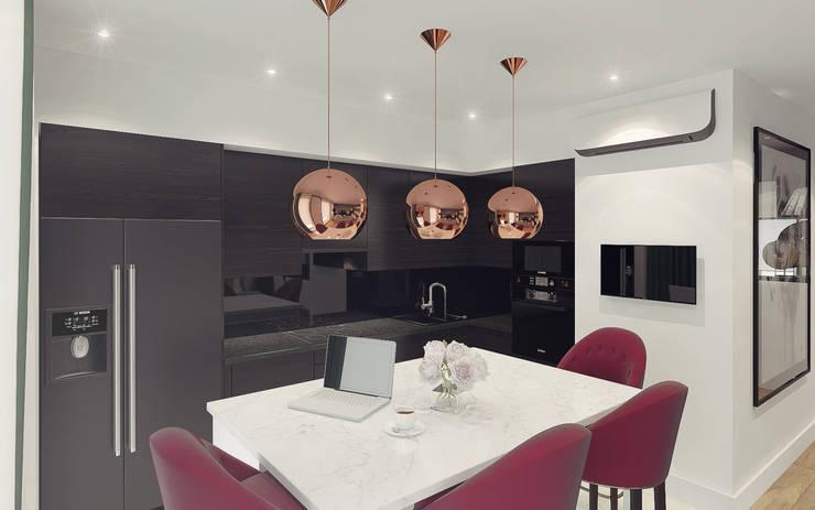 Cocinas de estilo moderno por Ksenia Konovalova Design