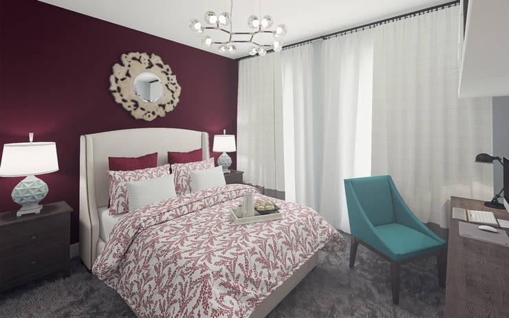 Apartment in Otrada estate: modern Bedroom by Ksenia Konovalova Design