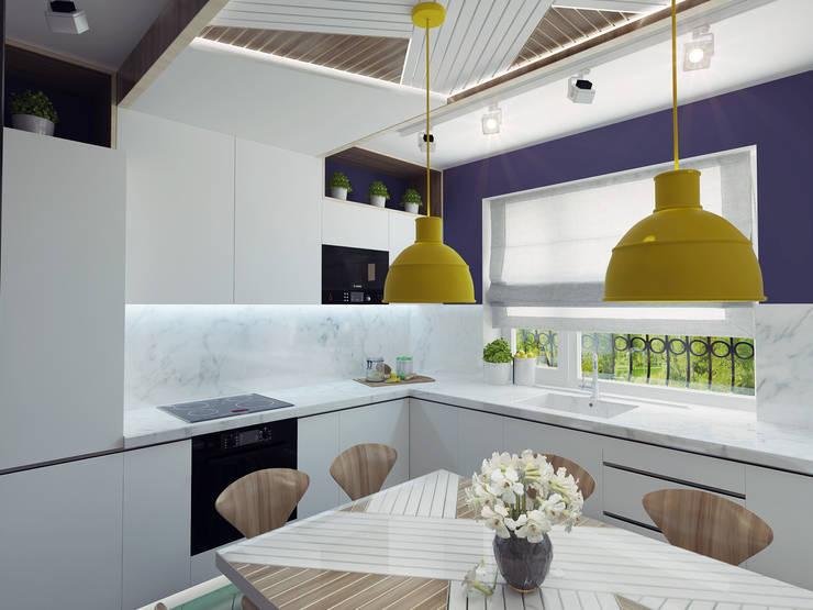 Small kitchen interior design:  Kitchen by Ksenia Konovalova Design