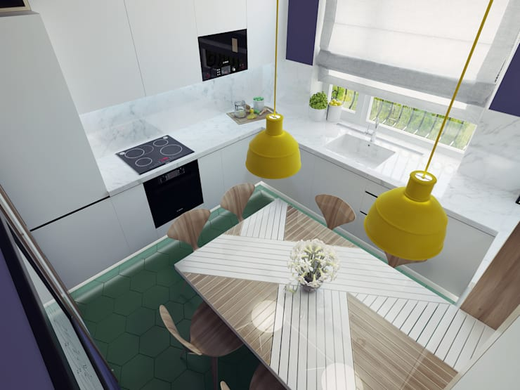 Small kitchen interior design:  Kitchen by Ksenia Konovalova Design