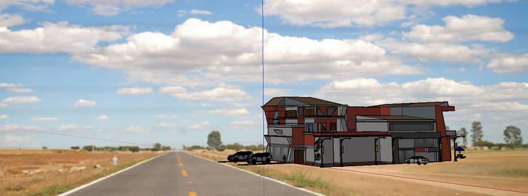 diseño basico de una casa de alto nivel:  de estilo  por Dibucad