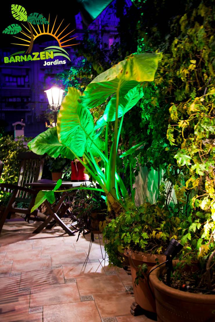 Iluminacion Led de exterior: Jardines de estilo  por Barnazen