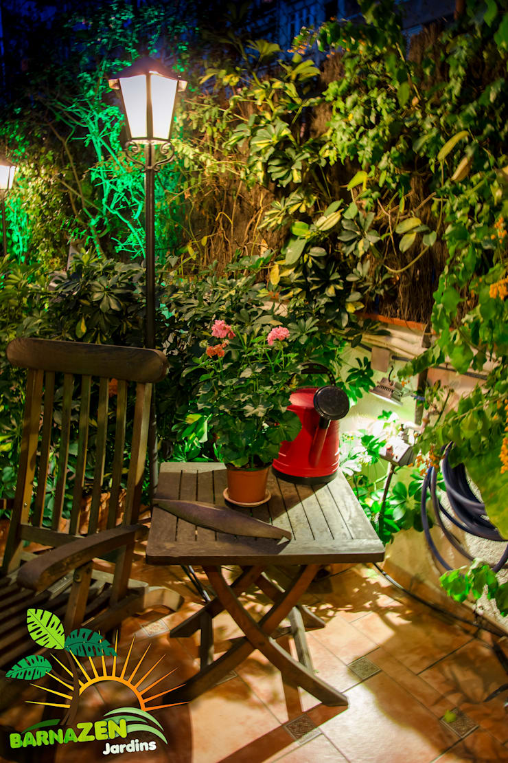 Iluminacion Led de exterior: Terrazas de estilo  por Barnazen