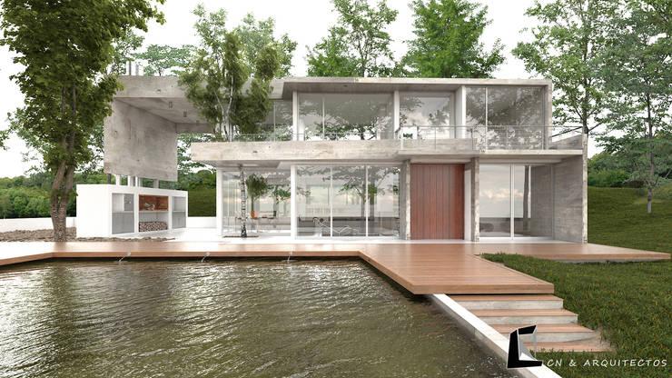 CASA VERANIEGA CN: Casas de estilo  por CN y Arquitectos