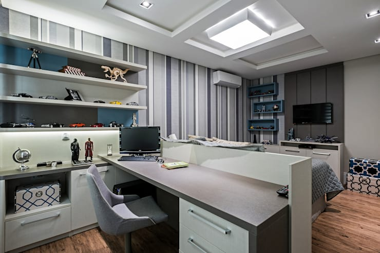 Projekty,  Sypialnia zaprojektowane przez TRÍADE ARQUITETURA