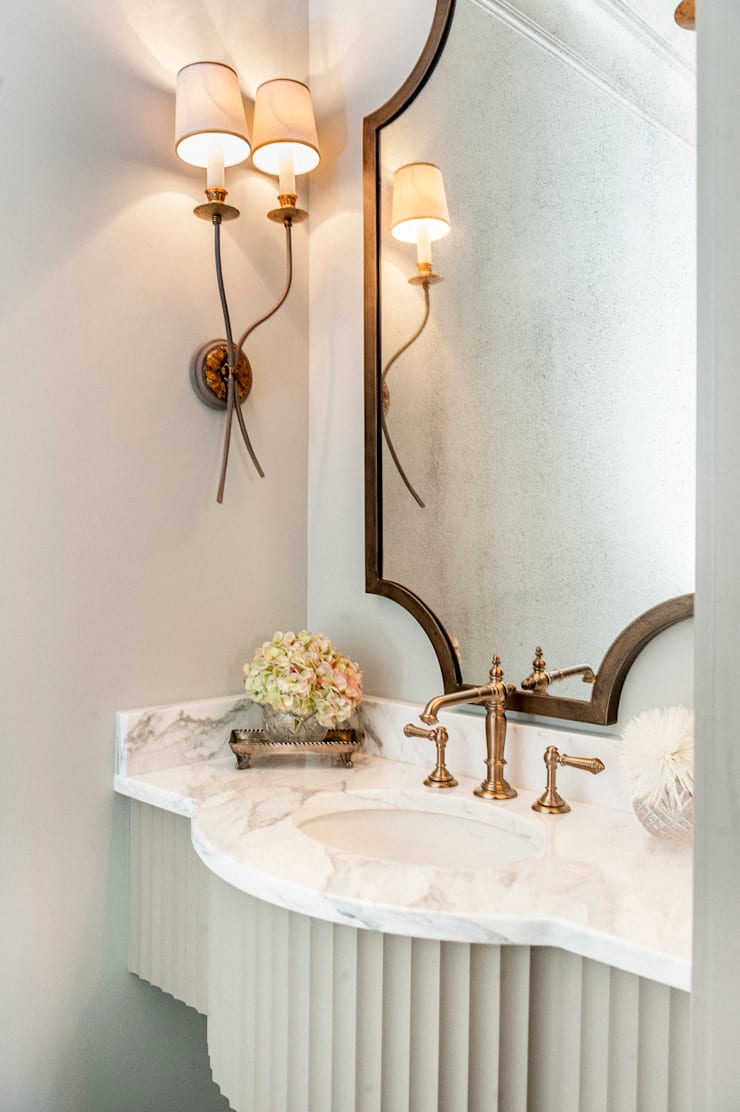 Spanish Colonial Interiors:  Bathroom by Christopher Architecture & Interiors