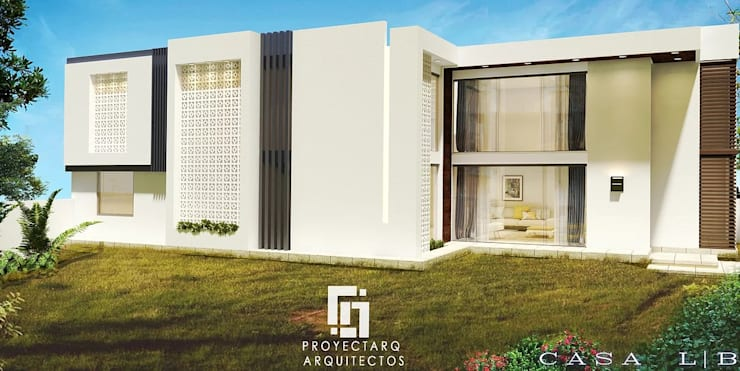 CASA LB: Casas de estilo  por PROYECTARQ | ARQUITECTOS